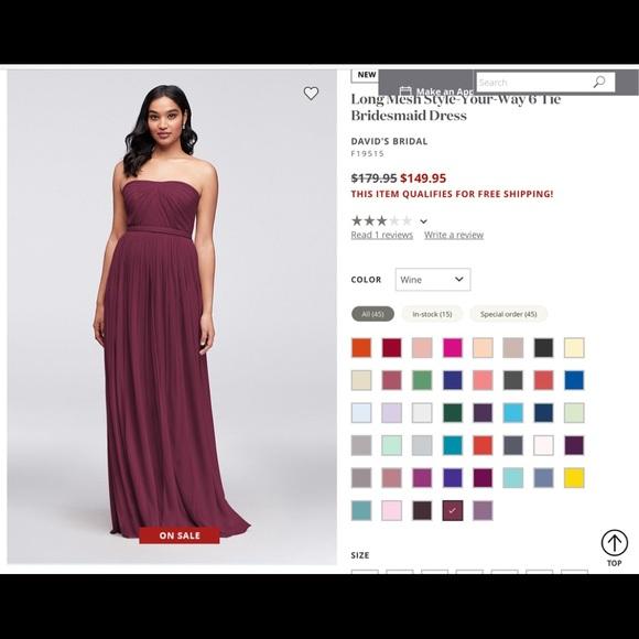 9a86a7de95 David s Bridal Dresses   Skirts - Long chiffon dress